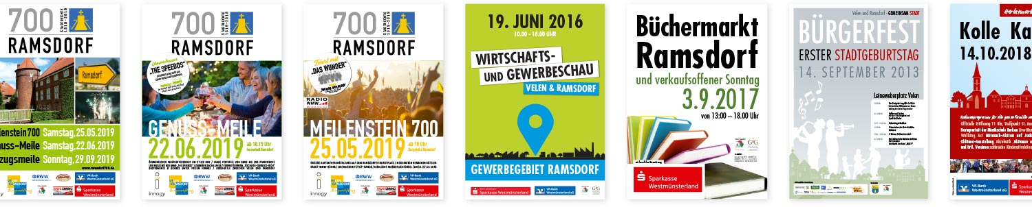Plakate Kommunalmarketing und Events